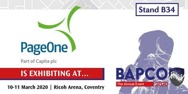 PageOne looks forward to being at BAPCO 2020
